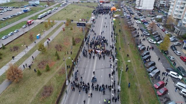 Русский марш 2017 Москва Люблино