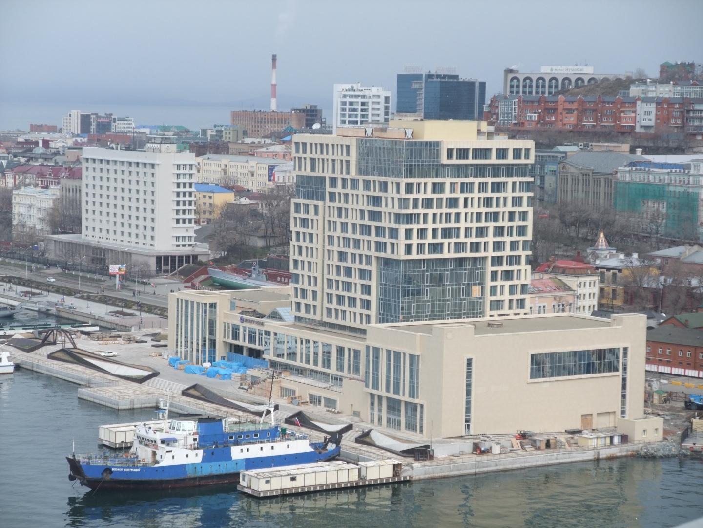 Строительство отеля Hyatt Regency. Владивосток