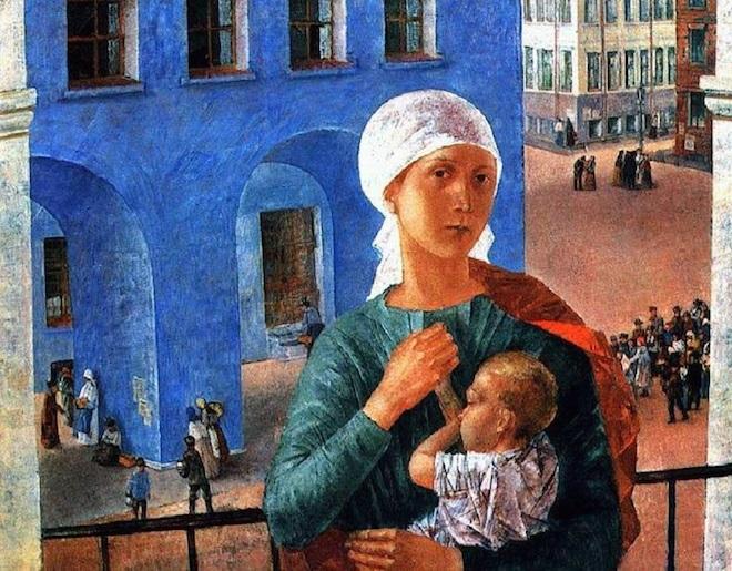 Кузьма Петров-Водкин. Петроградская Мадонна. 1920