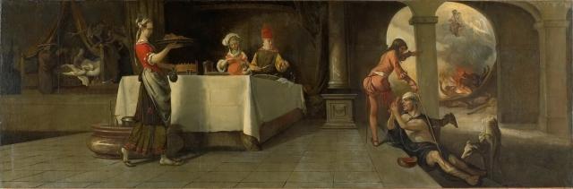 Рембрант. Притча о богаче и Лазаре. 1661