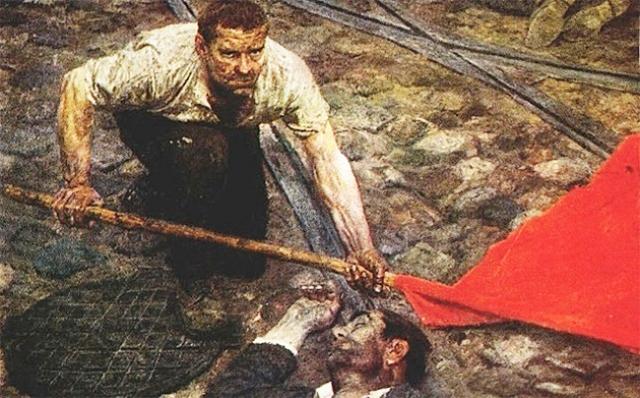 Гелий Коржев. Поднимающий знамя. 1957—1960