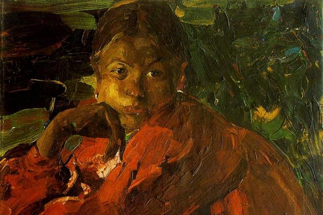 Филипп Малявин. Девочка (фрагмент). 1910-е