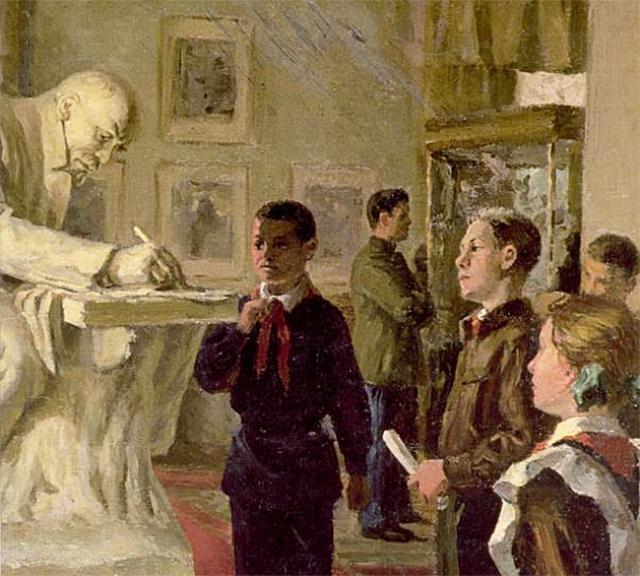 Владимир Андрушкевич. Пионеры в музее Ленина. 1951