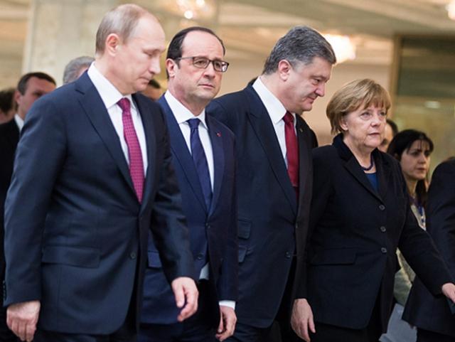 Лидеры стран «нормандской четвёрки»