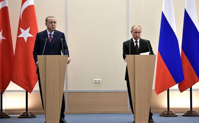 Встреча Владимира Путина и Реджепа Тайипа Эрдогана в Сочи. 2017