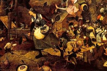 Питер Брейгель Старший. Безумная Грета (фрагмент). 1562