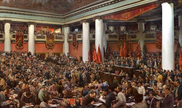Исаак Бродский.  II Конгресс Коминтерна. 1924