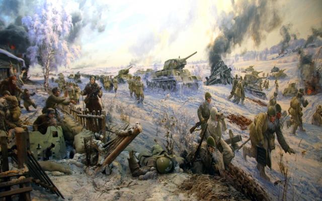 Е. Корнеев. Диорама «Лобня. Наступление. 6.12.1941» В музее танка Т-34