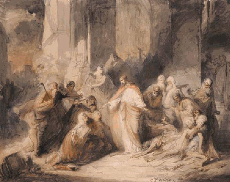 Константин Егорович Маковский. Исцеление Христом слепых. 1860