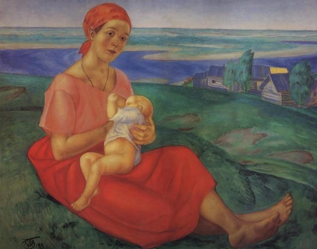 Петров-Водкин Кузьма Сергеевич. Мать. 1913