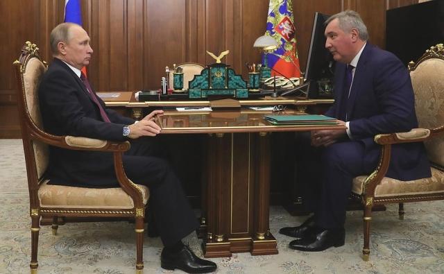 Рабочая встреча Владимира Путина с Дмитрием Рогозиным