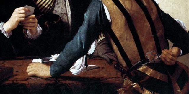 Микеланджело Караваджо. Шулеры (фрагмент)1596