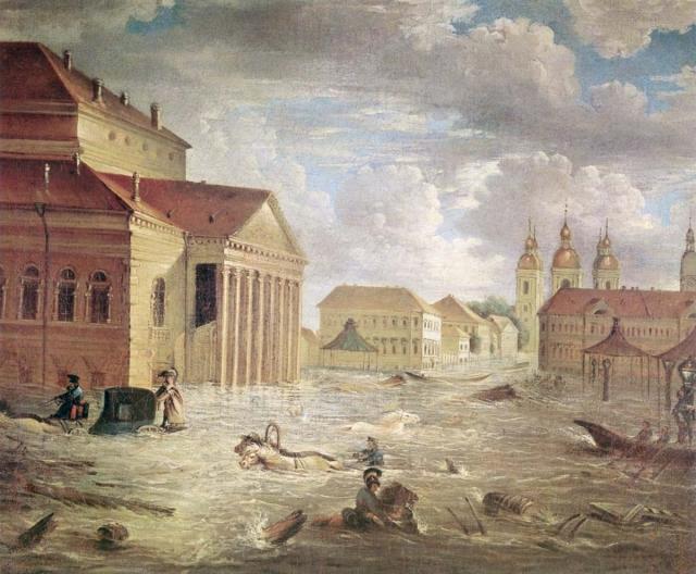 Затоплена половина города. Сильнейшее наводнение за всю историю Петербурга