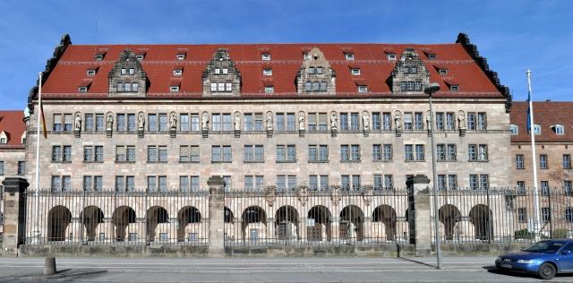 Нюрнбергский Дворец юстиции, где проходили заседания Нюрнбергского трибунала