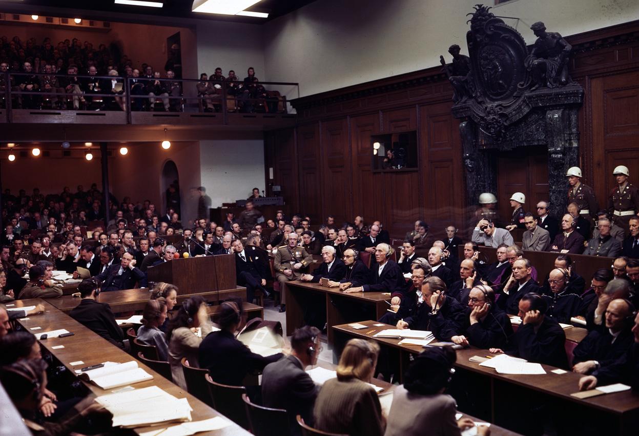 Заседание Международного военного трибунала в Нюрнберге, 1946 г