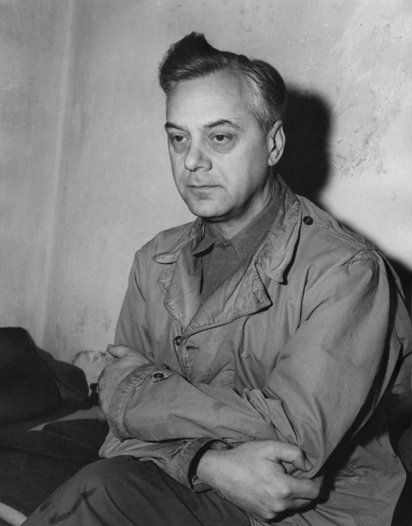 Альфред Розенберг в камере тюрьмы Нюрнберга, 24 ноября 1945 года