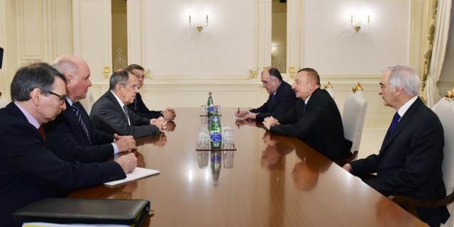 Алиев провел встречу с главой МИД РФ