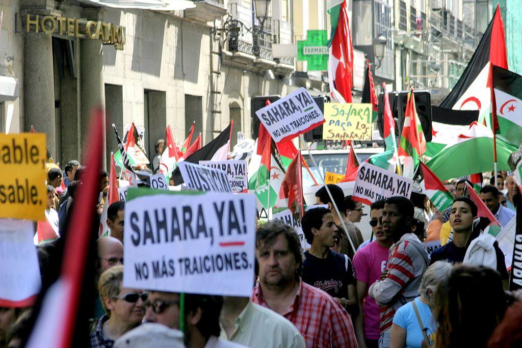 Демонстрация в Мадриде за независимость Западной Сахары