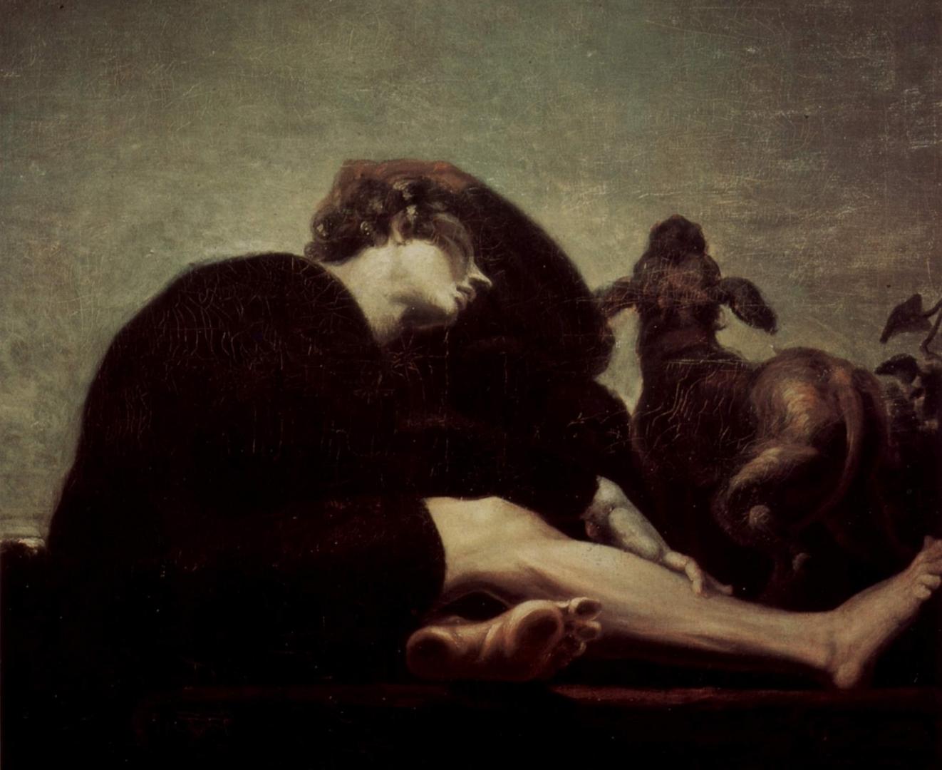 Иоганн Фюсли. Одиночество на рассвете. 1796
