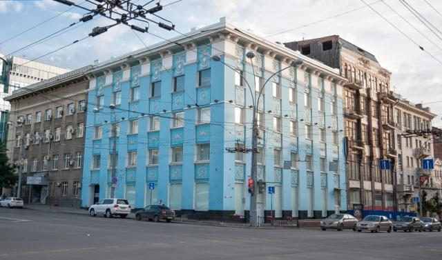 Бывшее здание «Маслопрома» на пересечении проспекта Ворошиловского и улицы Большая Садовая в Ростове-на-Дону
