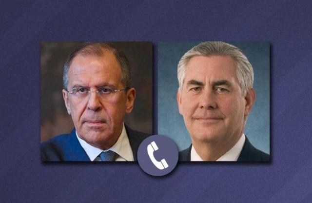 Лавров и Тиллерсон обсудили по телефону события на Украине и в Сирии