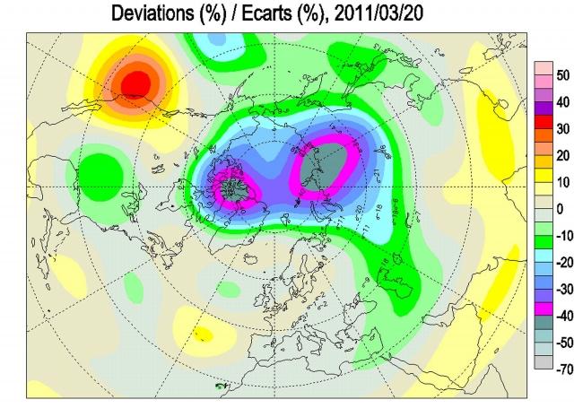 Рис. 18. Озоновый след заприпайных стационарных полыней (ЗСП)