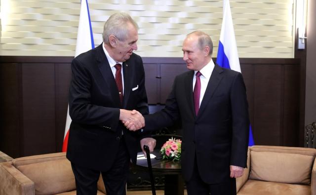 Встреча Земана и Путина: президент Чехии отказался от переводчика