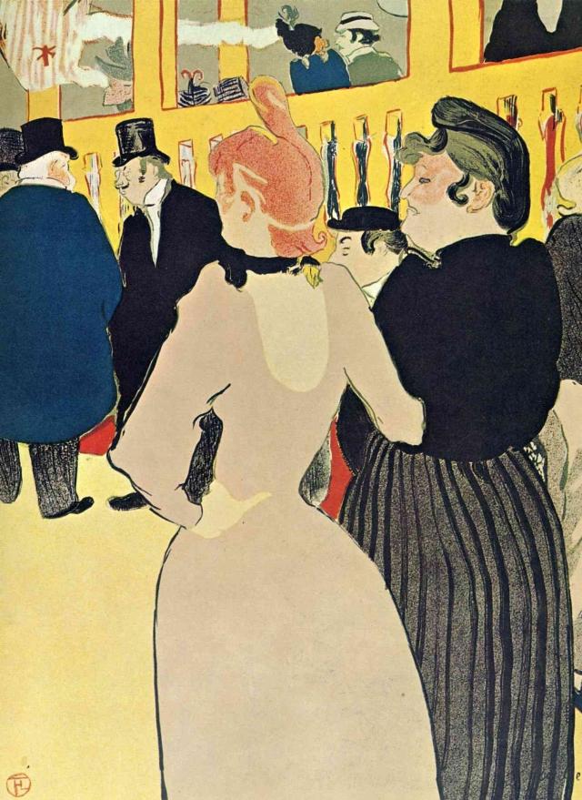 Анри Тулуз-Лотрек. В «Мулен Руж» Ла Гулю с сестрой — 1892