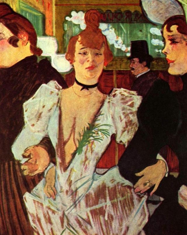 Анри де Тулуз-Лотрек. Ла Гулю с двумя подругами в «Мулен Руж». 1892