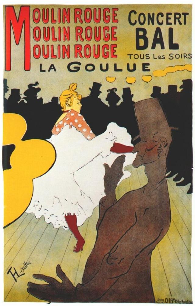 Анри де Тулуз-Лотрек. «Мулен Руж», Ла Гулю.  1891