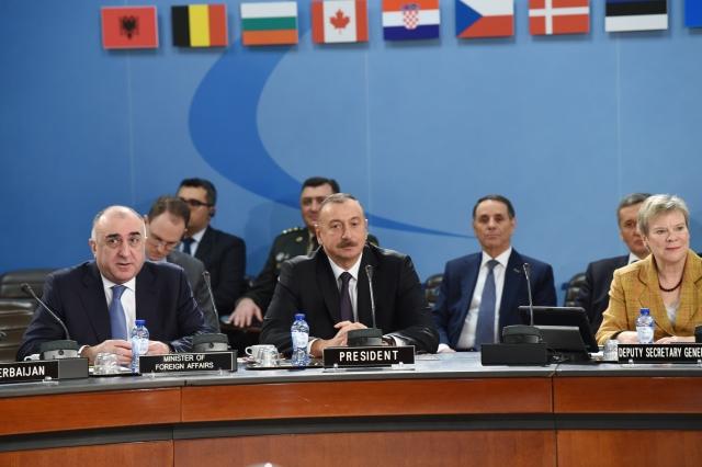 Ильхам Алиев принял участие в заседании Североатлантического совета НАТО
