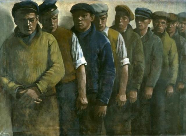 Эрнст Нойшуль. Безработные. 1931