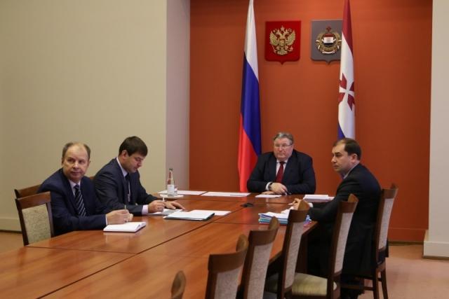Глава Мордовии принял участие в совещании с вице-премьером РФ Козаком