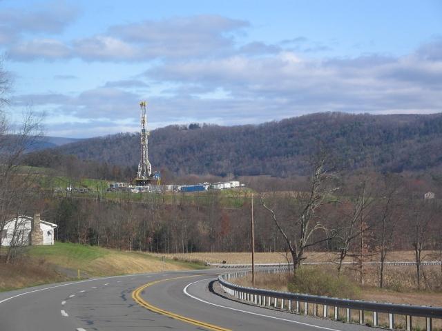 Буровая на месторождении сланцевого газа Marcellus в Пенсильвании. США