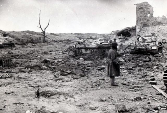 Немецкие танки, захваченные в городе Великие Луки