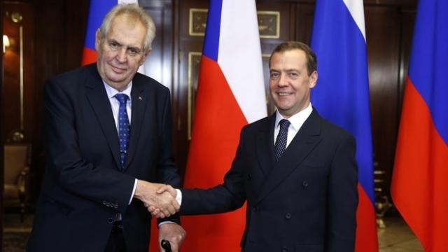 Встреча Дмитрия Медведева с Президентом Чешской Республики Милошем Земаном. 22 ноября 2017