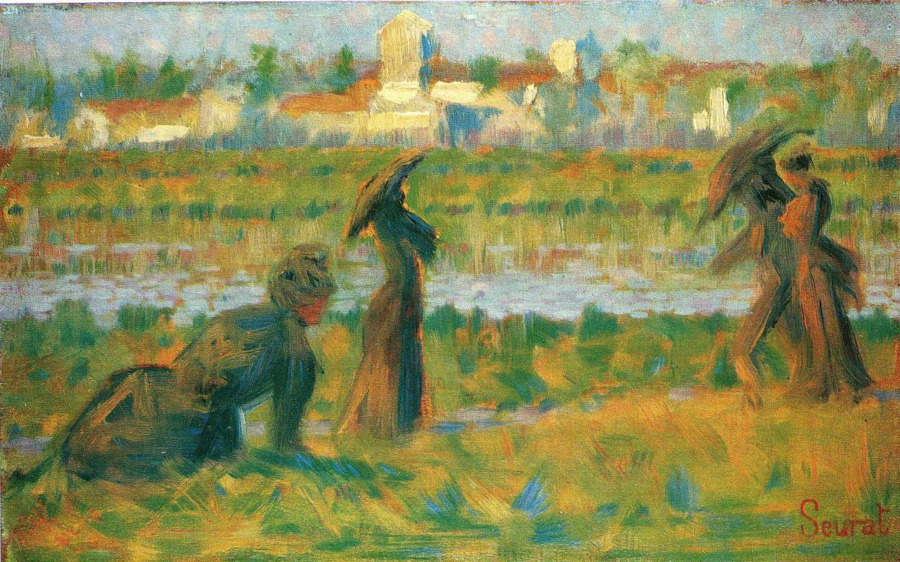Жорж-Пьер Сёра. Фигуры, этюд. 1884