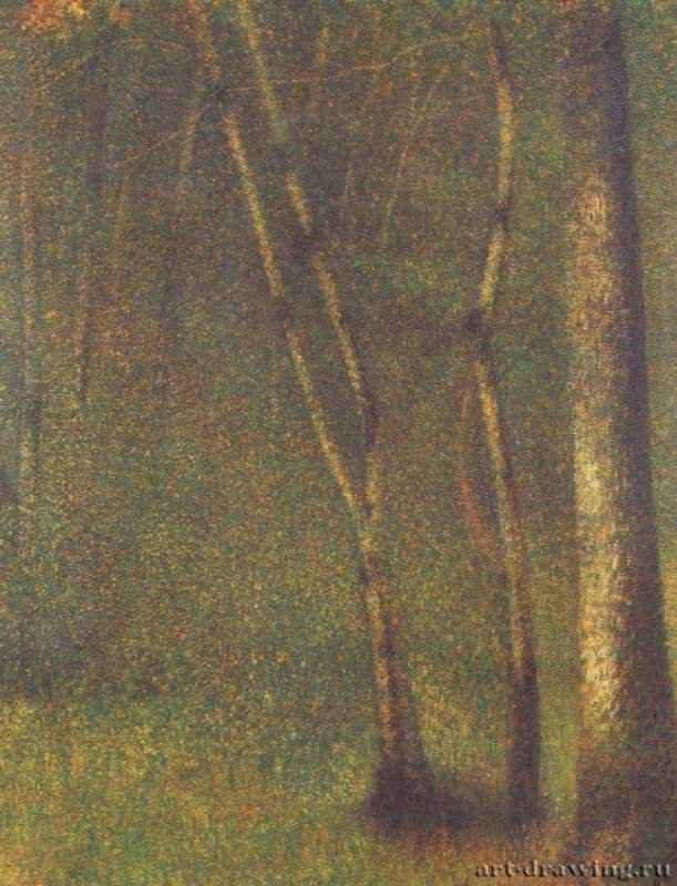 Жорж-Пьер Сёра. Лес в Понтобере. 1879—1882