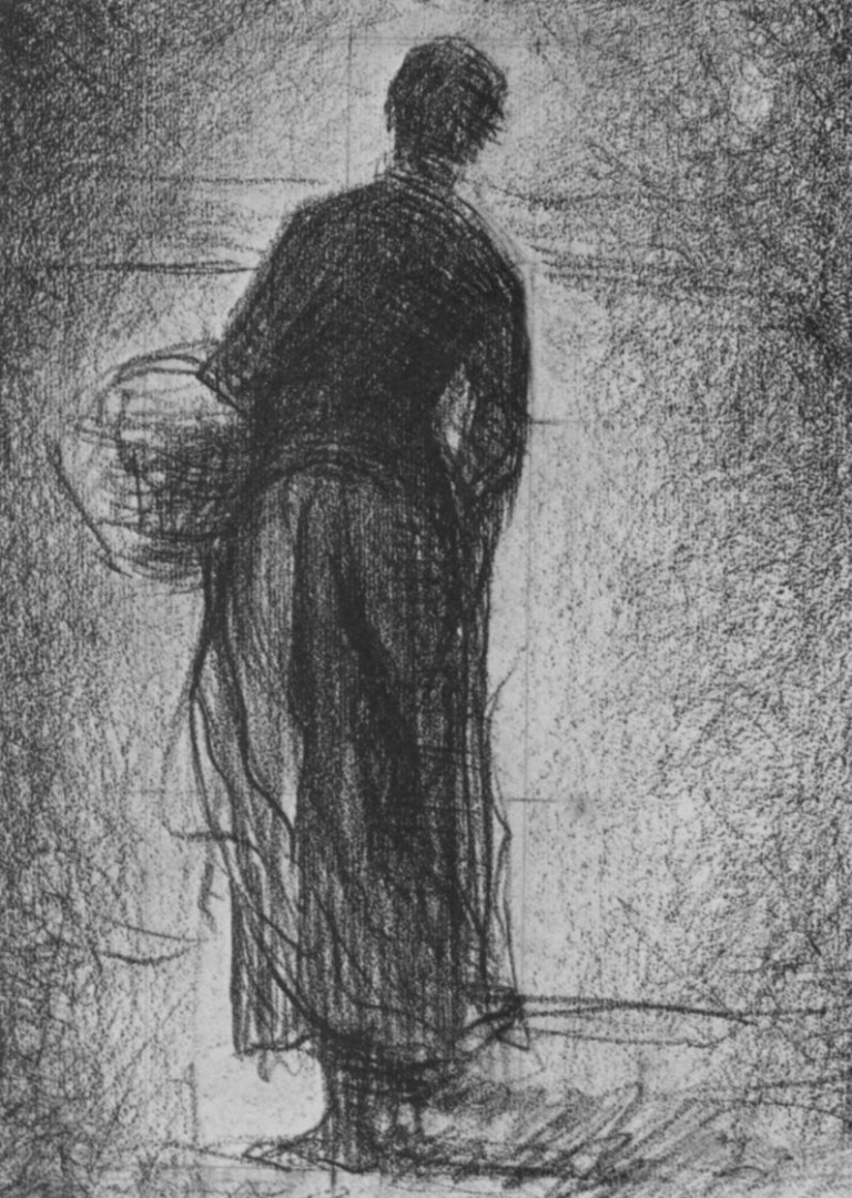Жорж-Пьер Сёра. Женщина с корзиной. 1881