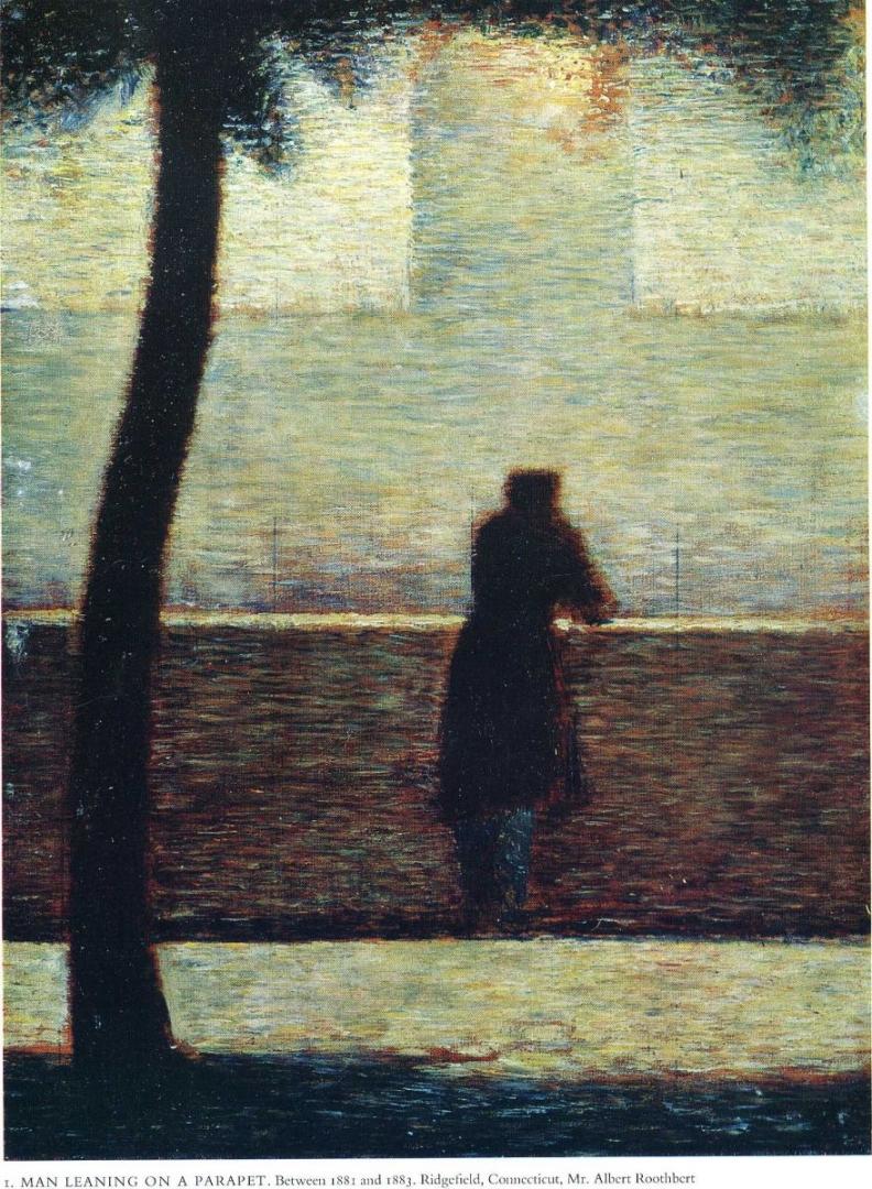 Жорж-Пьер Сёра. Мужчина смотрит вдаль. 1881