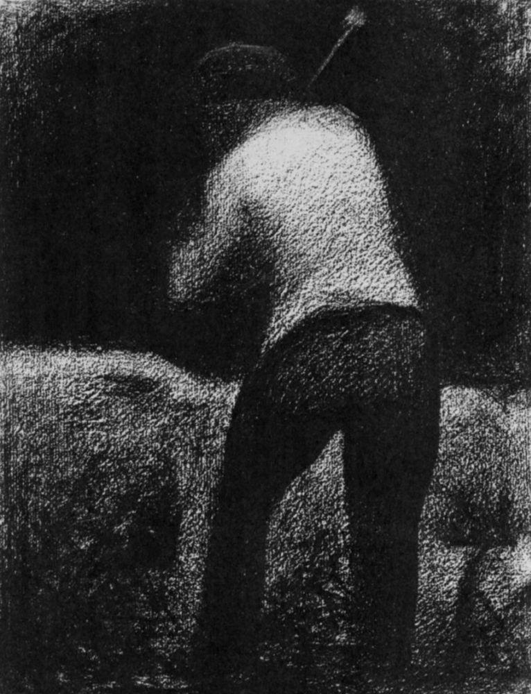 Жорж-Пьер Сёра. Дробильщик камней. 1882