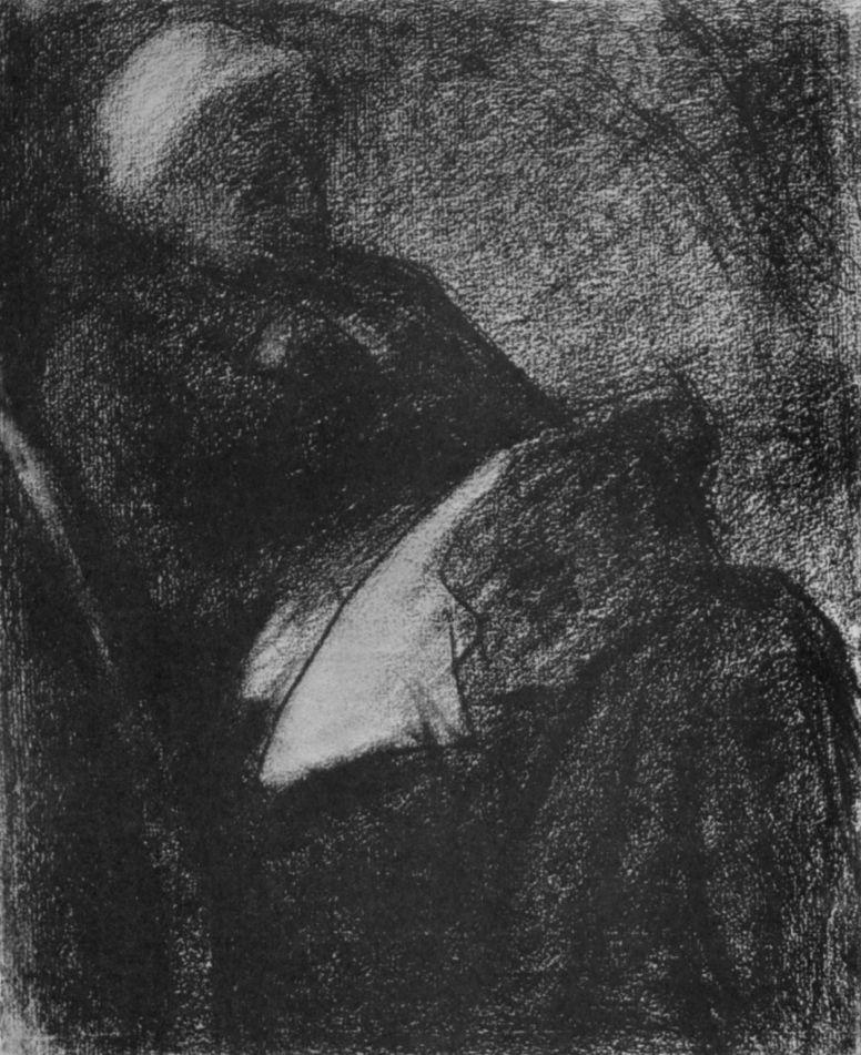 Жорж-Пьер Сёра. Женщина за вышиванием. 1882