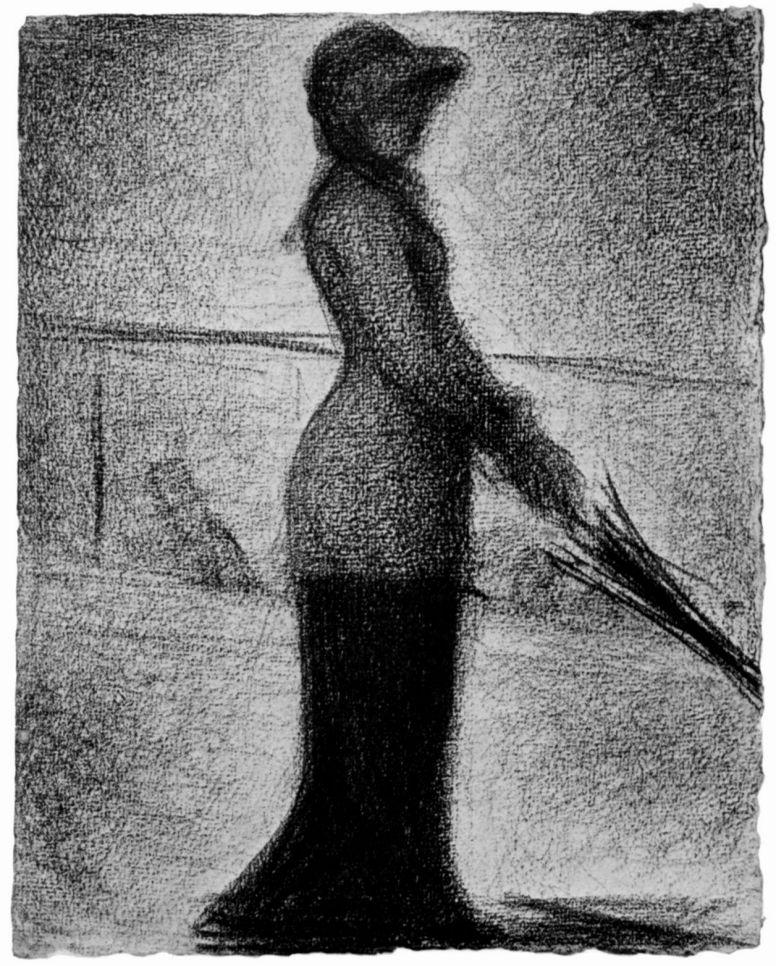 Жорж-Пьер Сёра. Прогуливающаяся в одиночестве. 1882