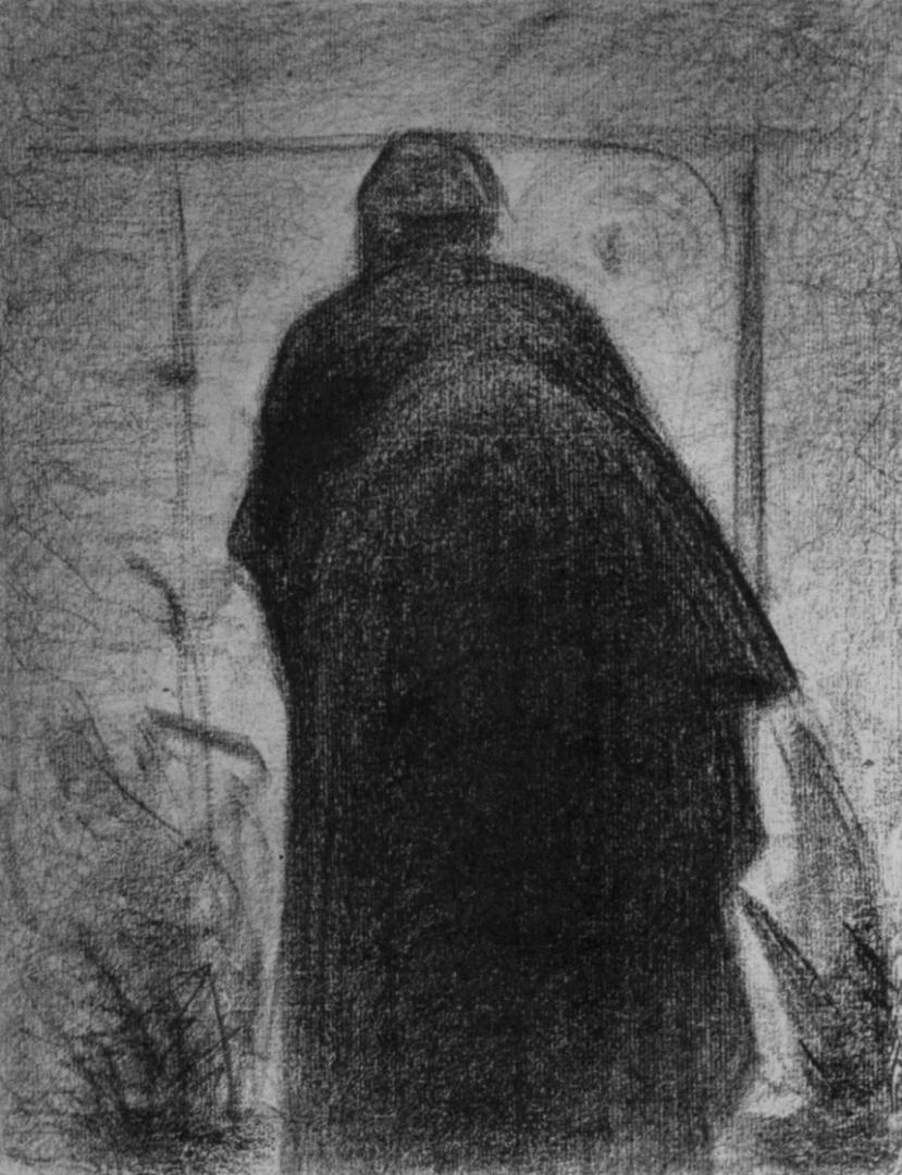 Жорж-Пьер Сёра. Согнувшаяся женщина, фигура со спины. 1882