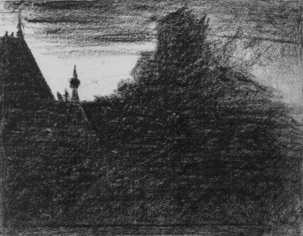 Жорж-Пьер Сёра. Часовая башенка. 1882