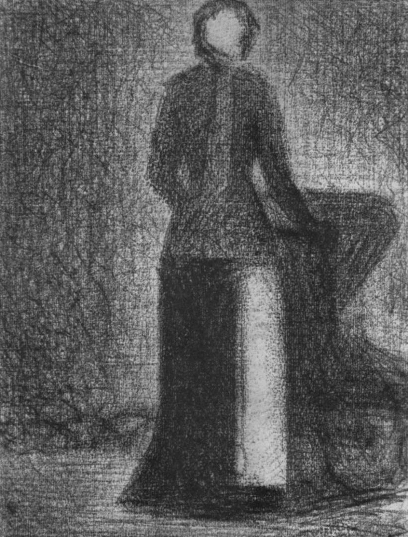 Жорж-Пьер Сёра. Чепец-повязка. 1882