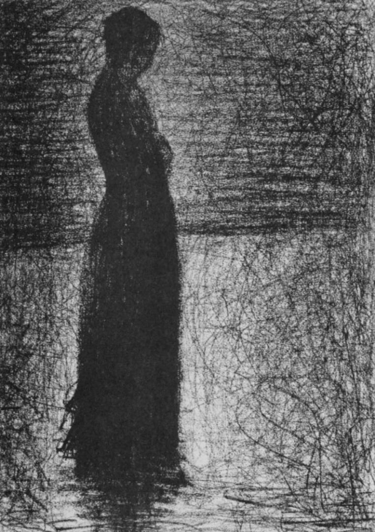 Жорж-Пьер Сёра. Стоящая женщина. 1882