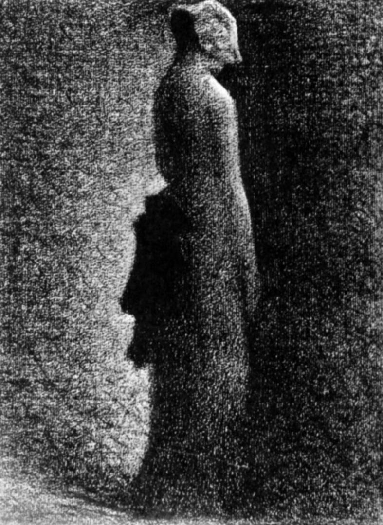 Жорж-Пьер Сёра. Черный бант. 1882