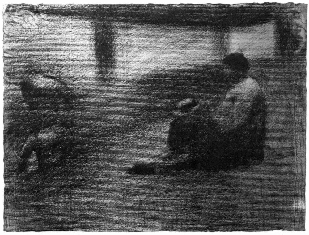 Жорж-Пьер Сёра. Белье на веревке. 1883