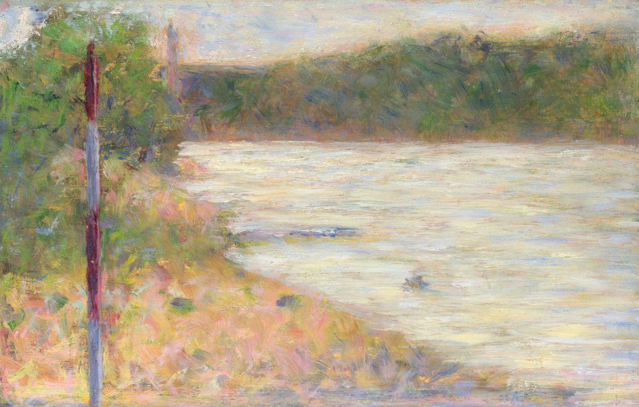 Жорж-Пьер Сёра. Берег реки. 1883